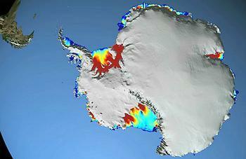 南極融冰的新原因:溫暖洋流融化冰層下方